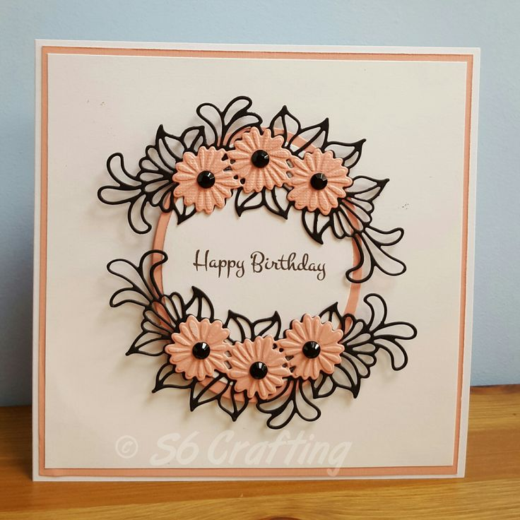 Daisy Cluster Birthday - S6 Crafting Using Sue Wilson dies