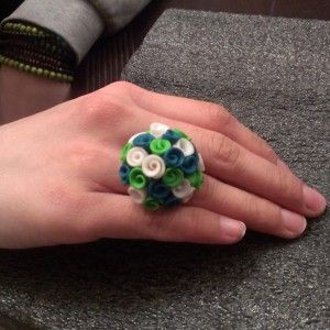 Clay Flower Bouquet Ring! With Various flower colors!