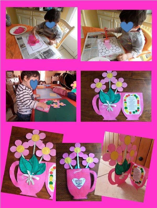 Vase fête des mères