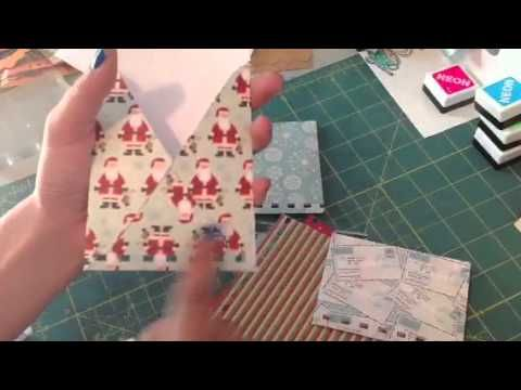 ▶ Christmas junk journal tutorial:) - YouTube