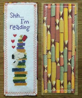 free peanuts / snoopy cross stitch bookmark pattern