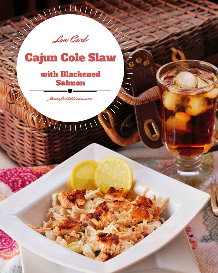 Try this spicy, zesty, delicious Blackened Salmon Cajun Cole Slaw, based on a famous gulf coast restaurant dish to zip up your next barbeque!