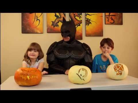 Carving Pumpkins With The Bat - YouTube