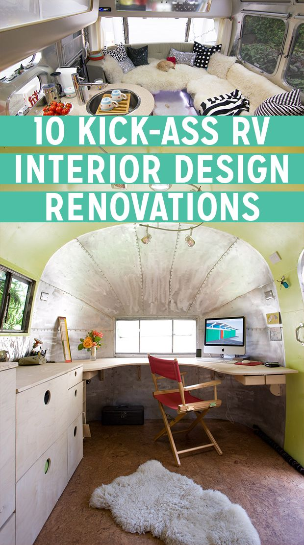 Kick-ass Interior Design Renovations via RoverPass. Sprucing up your RV interior is easier than you might think. Check out these hacks and examples!