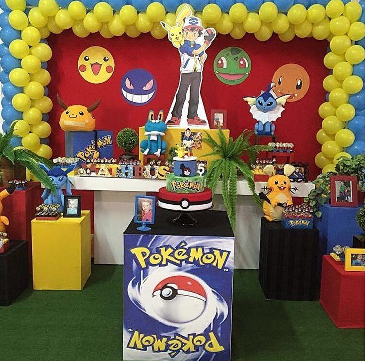 Ideas, decoración y manualidades para fiestas: 10 ideas para decorar tu mesa de dulces de Pokémon go