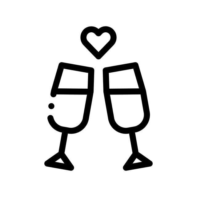 champagne glasses wedding ceremony