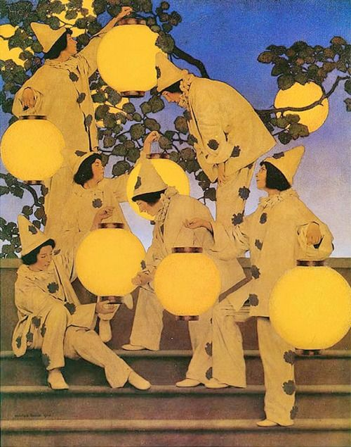 Maxfield Parrish (1870-1966)  The Lantern Bearers  Oil on canvas  1910