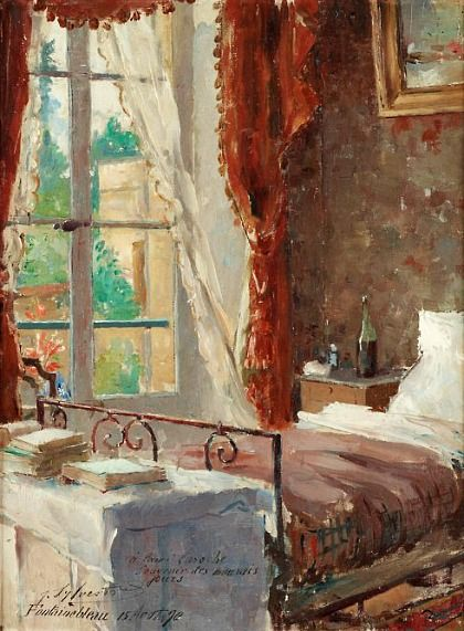 by Joseph Sylvestre 1890 -This is so charming all these years later. Could be a 2012 bedroom.