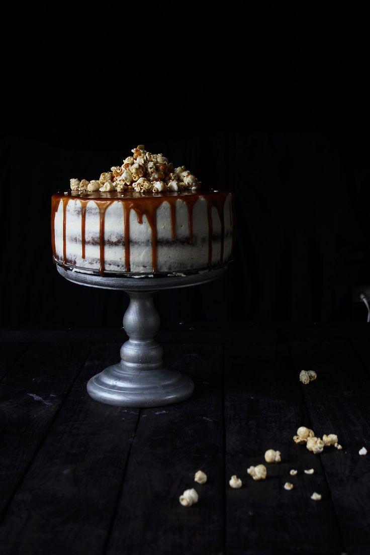 шоколадный торт с соленой карамелью