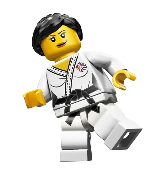 Oh my, a Taekwondo Girl Lego for the Olympics... woohoo!!!