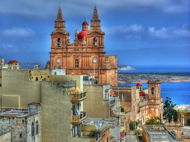 Mellieha, Malta    Mellieha is a beautiful village at the northernmost tip of the island of Malta, overlooking the narrow channel that separates Malta from the two islands of Gozo and Comino.