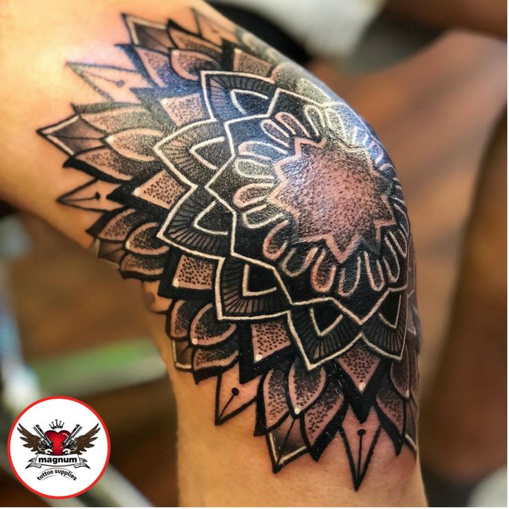 Niall Shannon's mandala piece created with #magnumtattoosupplies