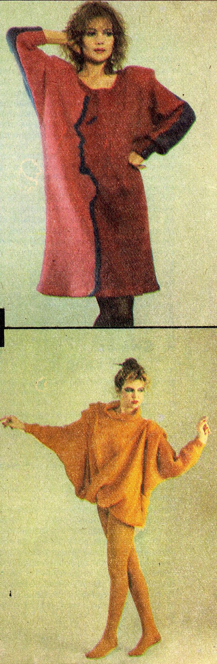 """from """"Komplety dzianiny"""" Jolanta Turalska, fot. Robert Król, Warszawa 1988"""
