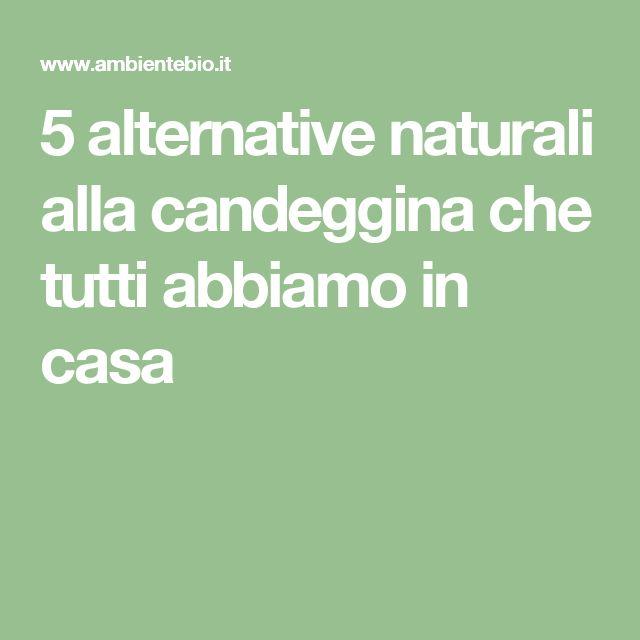 5 alternative naturali alla candeggina che tutti abbiamo in casa