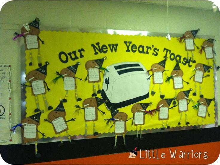new years toast writing & bulletin board