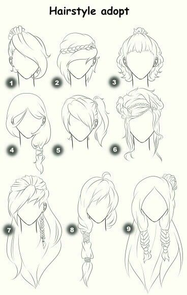 Admirable 1000 Ideas About Girl Hair Drawing On Pinterest Short Hairstyles Gunalazisus