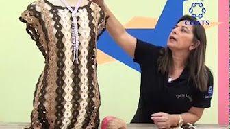 Saída de praia em crochê 1º parte - Viviane Santos - YouTube
