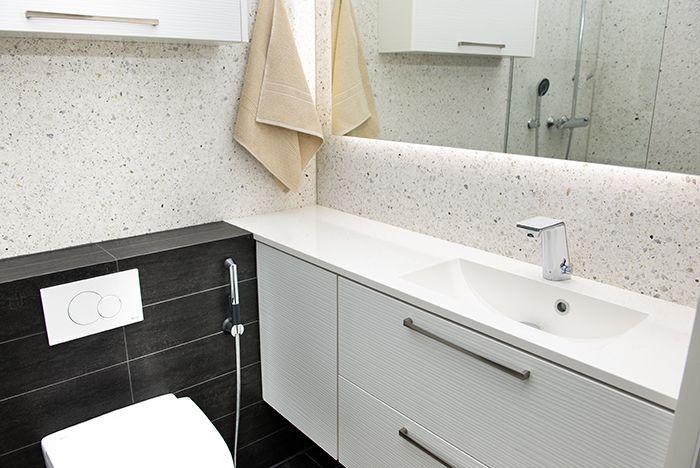 Faucet: Il Bagno Alessi Sense by Oras, with Smart Bidetta hand shower