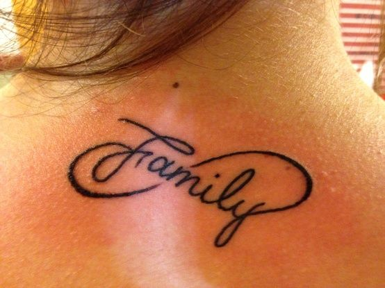 Tattoo saying Family  – tattoos pictures