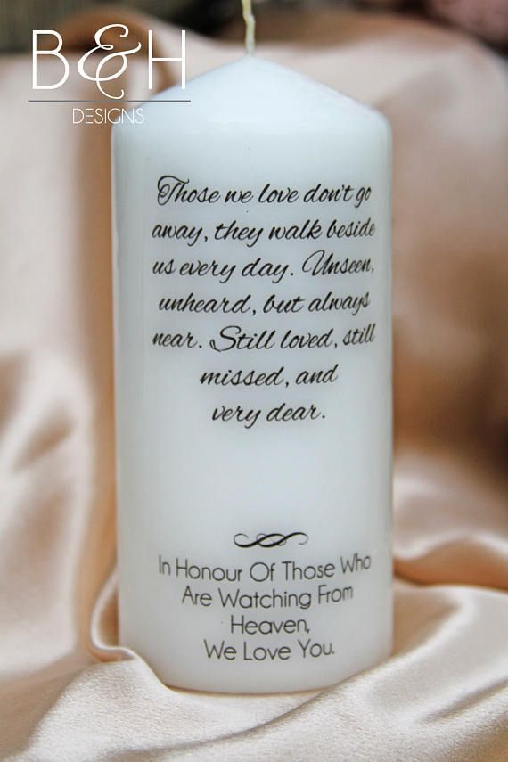 Honour your loved ones who have passed with a memory candle at your