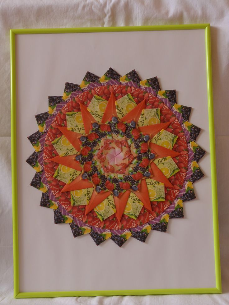 hand made by dadadj  tea bag mandala 30x40cm 20€