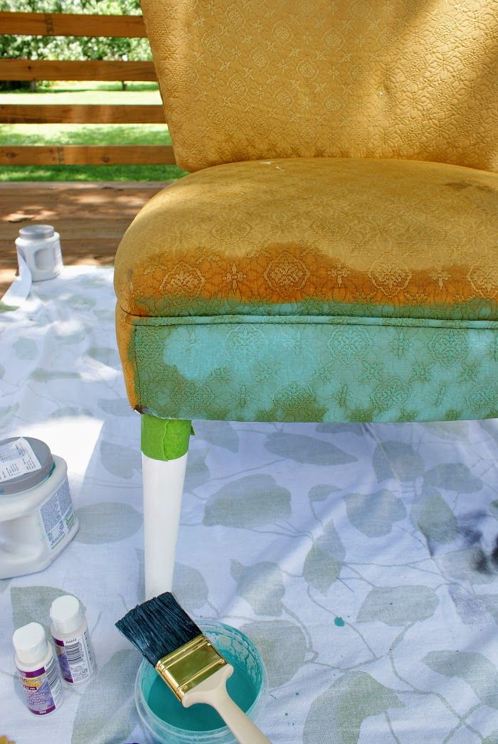 How to Paint Upholstery Tutorial