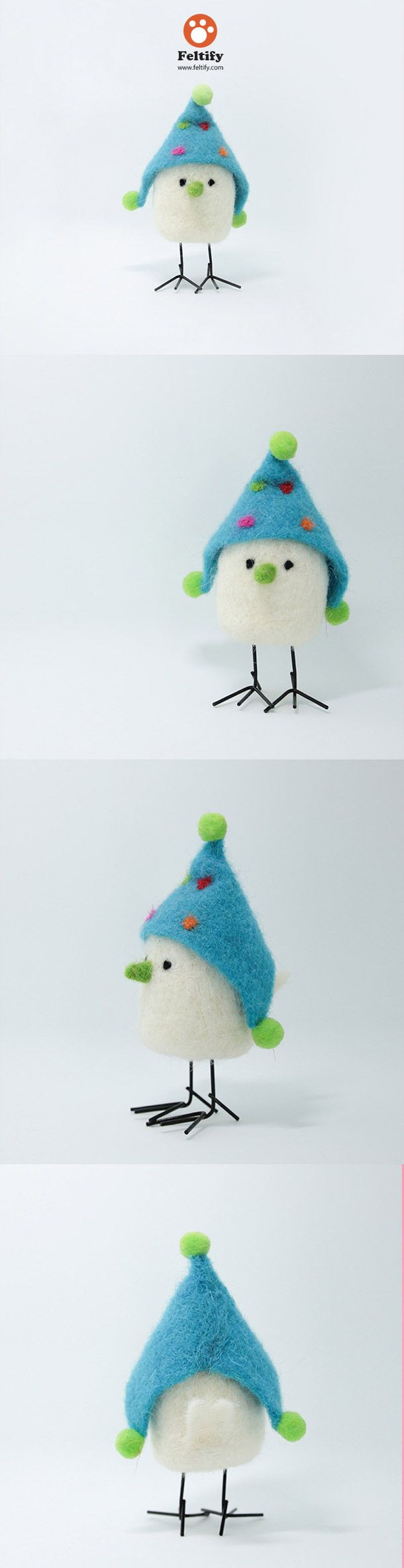 Needle Felted Felting Animals Chicken White Cute Craft
