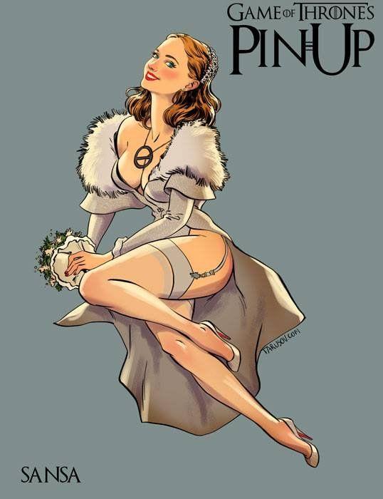 Game of Thrones Ladies as Classic Bombshells by Andrew Tarusov: Sansa Stark