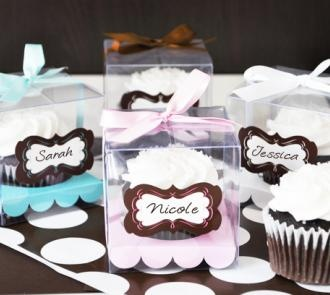 Items Similar To Clear Cupcake Bo Box Insert Favor Individual Single Mini Set Of 12 On Etsy