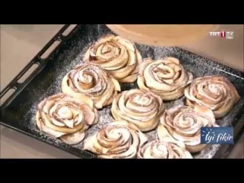 İyi Fikir Börek Tarifleri - Elmalı Çekirdekli Çörek, Elmalı Gül Milföy, Tahinli Çörek - YouTube