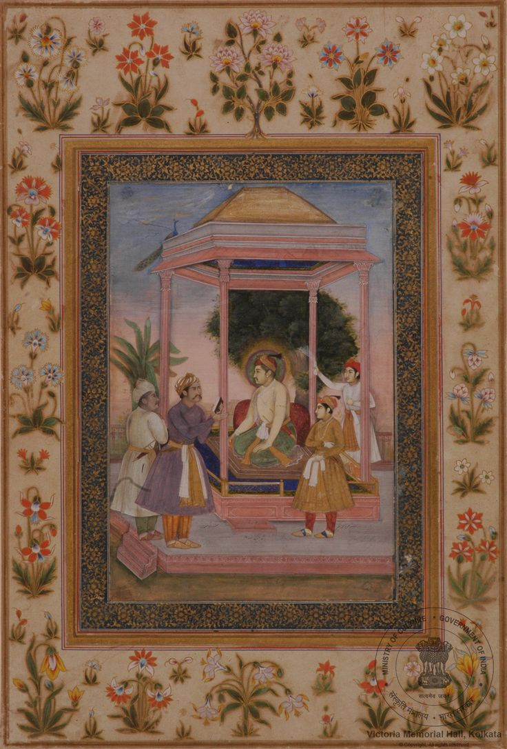 Akbar with Jahangir and Courtiers