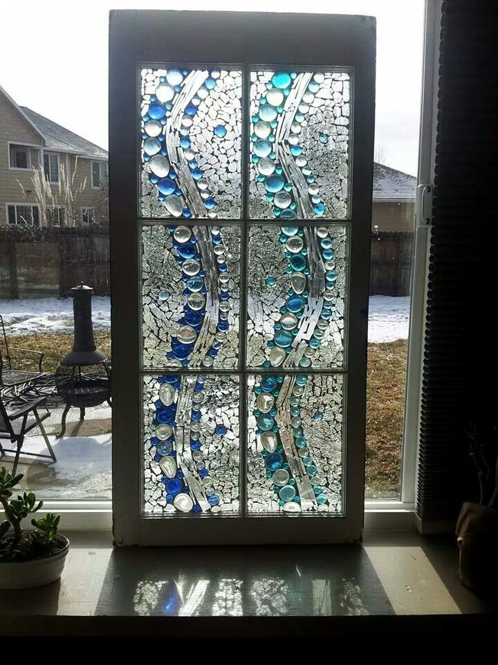 Stained Glass Mosaic Window Water fall mosaic