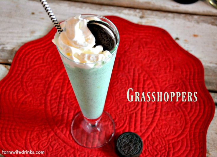 Grasshoppers are a chocolate mint frozen mixed drink that is a perfect recipe for a holiday dessert or after dinner drink.