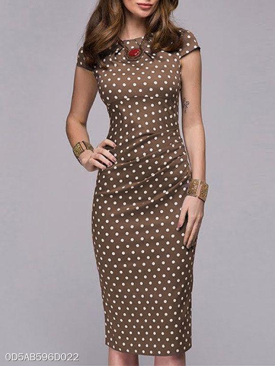 fd7e63f6a6a92 Polka Dot Bodycon Dress - berrylook.com   Want in 2019   Dresses ...