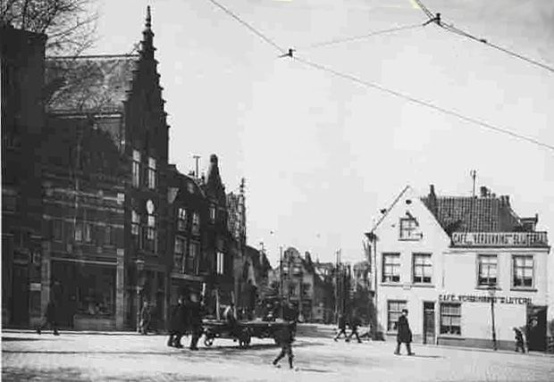 Havenstraat Café de Winter 1912 Delfshaven