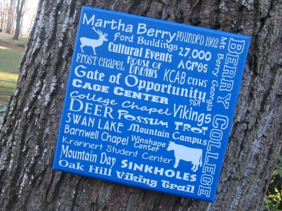 Berry College Subway Sign 12x12 By Smartypantzdesignz On Etsy 2000
