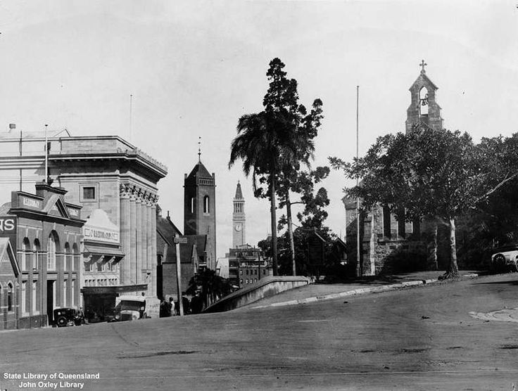 Intersection of Wickham Terrace and Wharf Street, Brisbane, Queensland, ca. 1931