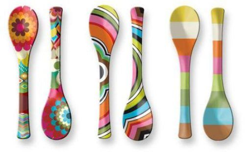 colorful serving spoons.