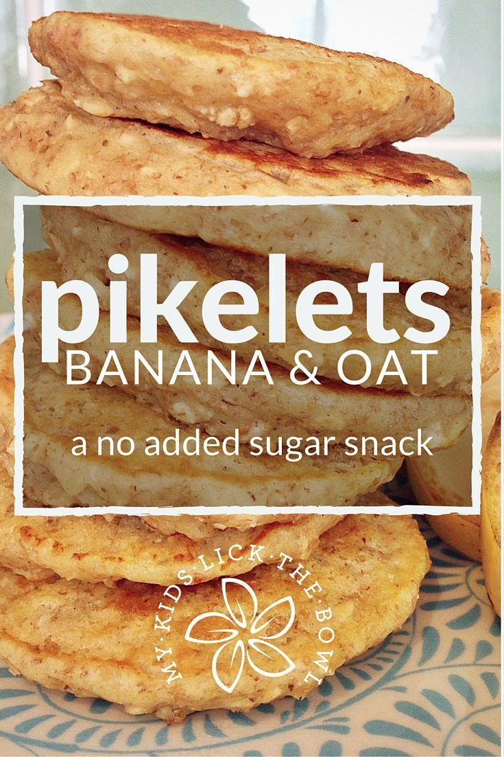 Banana Oat Pikelets | An Easy No Added Sugar Free Snack, Breakfast and Lunch Box Filler| Great Baby Led Weaning Option | My Kids Lick The Bowl | 2016
