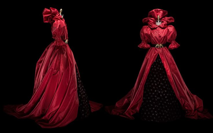 IMAGE © Alexia Sinclair Costuming for Whispers in the Woods. Red taffeta hood.