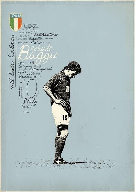 Reberto Baggio - Italy   ( a legend with a bad luck )