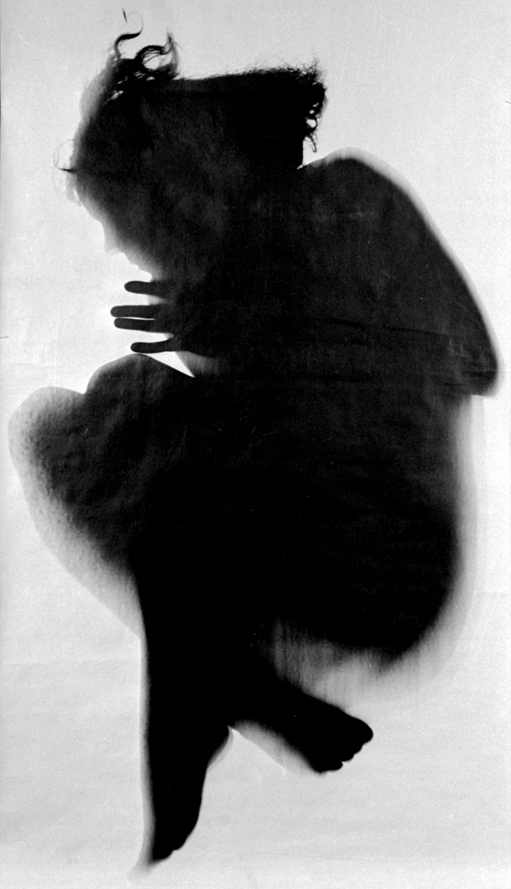 'Untitled, (Körperfotogramm), gelatin-silver print photogram by Floris Neusüss, Berlin, Germany, 1962. Collection Chistian Diener, Berlin © Courtesy of Floris Neusüss