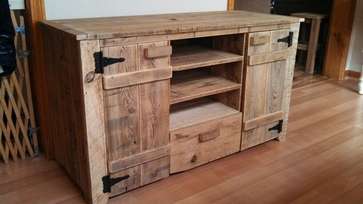 barn wood entertainment center 1