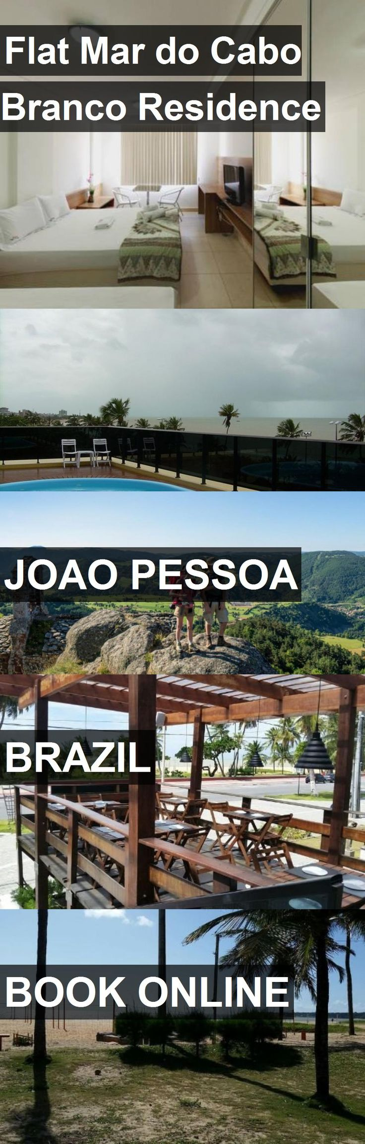Hotel Flat Mar do Cabo Branco Residence in Joao Pessoa, Brazil. For more information, photos, reviews and best prices please follow the link. #Brazil #JoaoPessoa #travel #vacation #hotel