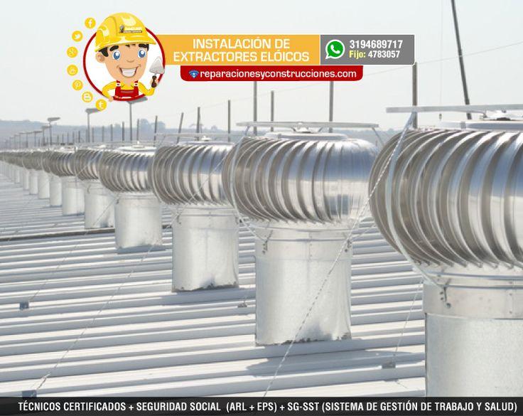 Instalación de sistemas de ventilación - Extractores Eólicos - Ductos - Aspas - Claraboya