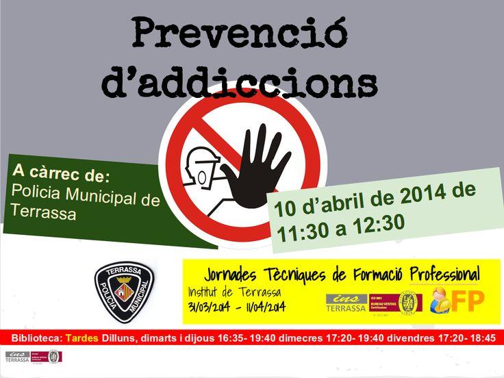 Xerrada sobre prevenció d'addiccions a càrrec de la Policia Municipal