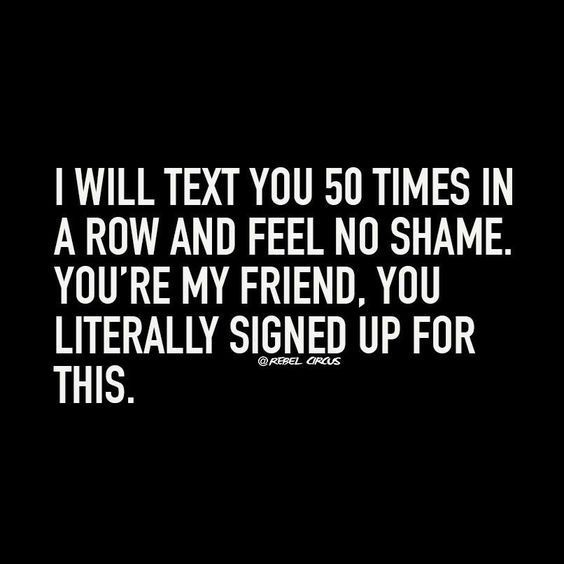 too funny! Friendship Humor Quote.