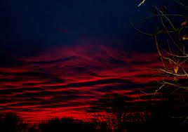 """""""It was sunset and we walked quietly toward the big red sun and the still sky that awaited darkness"""" (Beah 28)."""