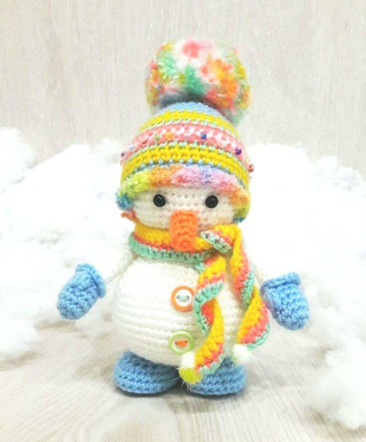 Cute Snowman Amigurumi Pattern | Crochet snowman, Crochet ... | 888x735