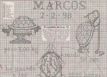tortugas punto cruz